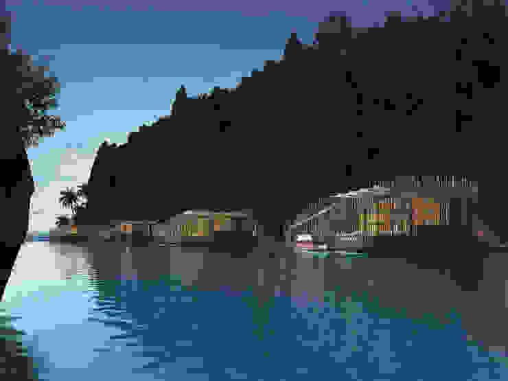 Floating Villas at Dusk by JAAL Builders Tropical