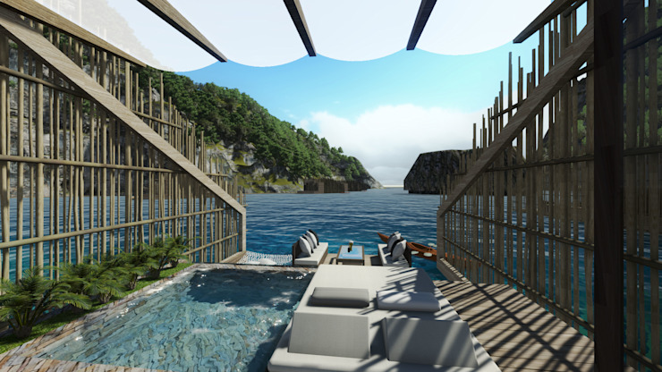View of the Lagoon from Villa by JAAL Builders Tropical