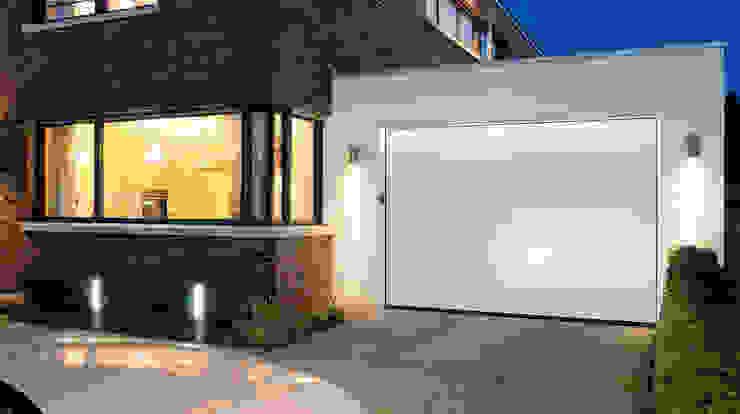 Hormann sectional garage door in white Access Garage Doors Ltd Modern style doors White