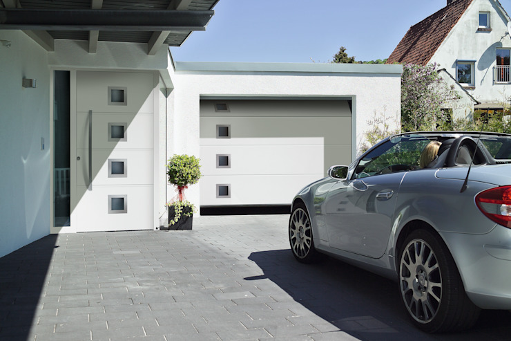 Hormann sectional garage door with windows Access Garage Doors Ltd Modern style doors