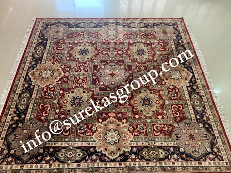 Custom Hand Knotted Persian Rug In Wool