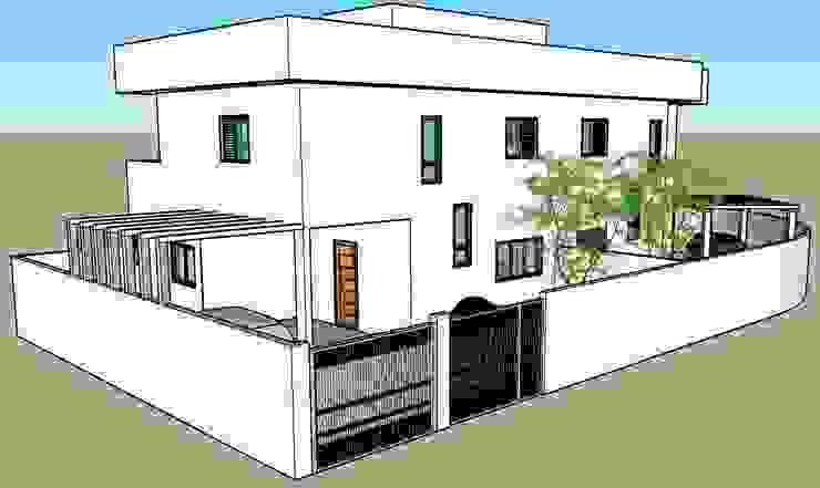 3D Vista Externa Parro Engenharia e Projetos Casas modernas