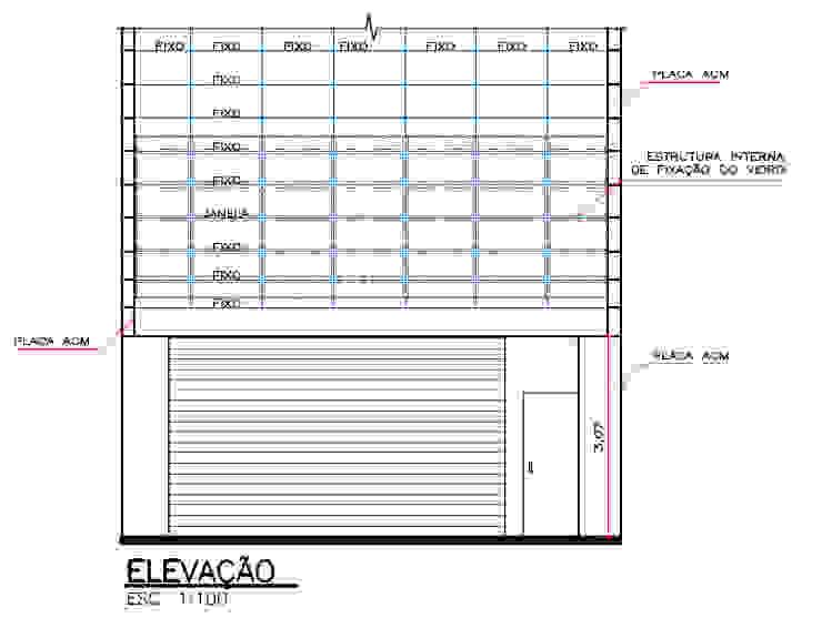 Elevação Edifício Comercial Parro Engenharia e Projetos