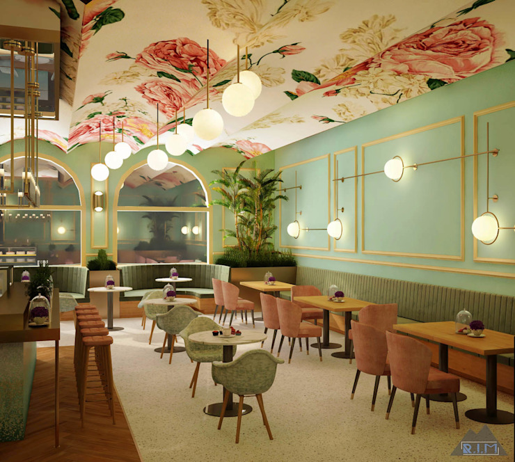 Thiết kế nội thất quán cafe COFFEE &TEA: Quốc gia  by Công ty trang trí nội thất RIM Decor, Đồng quê