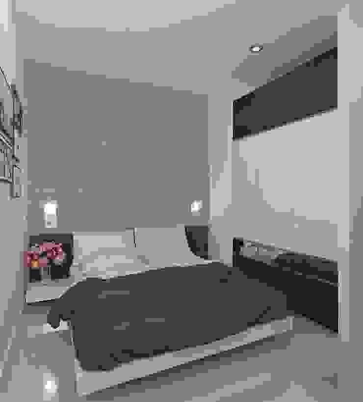 Trang trí nội thất căn hộ Vista Verde Apartment Phòng ngủ phong cách hiện đại bởi Công ty trang trí nội thất RIM Decor Hiện đại