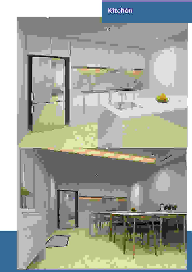 Thiết kế nội thất căn hộ chung cư Quận 7 Nhà bếp phong cách hiện đại bởi Công ty trang trí nội thất RIM Decor Hiện đại