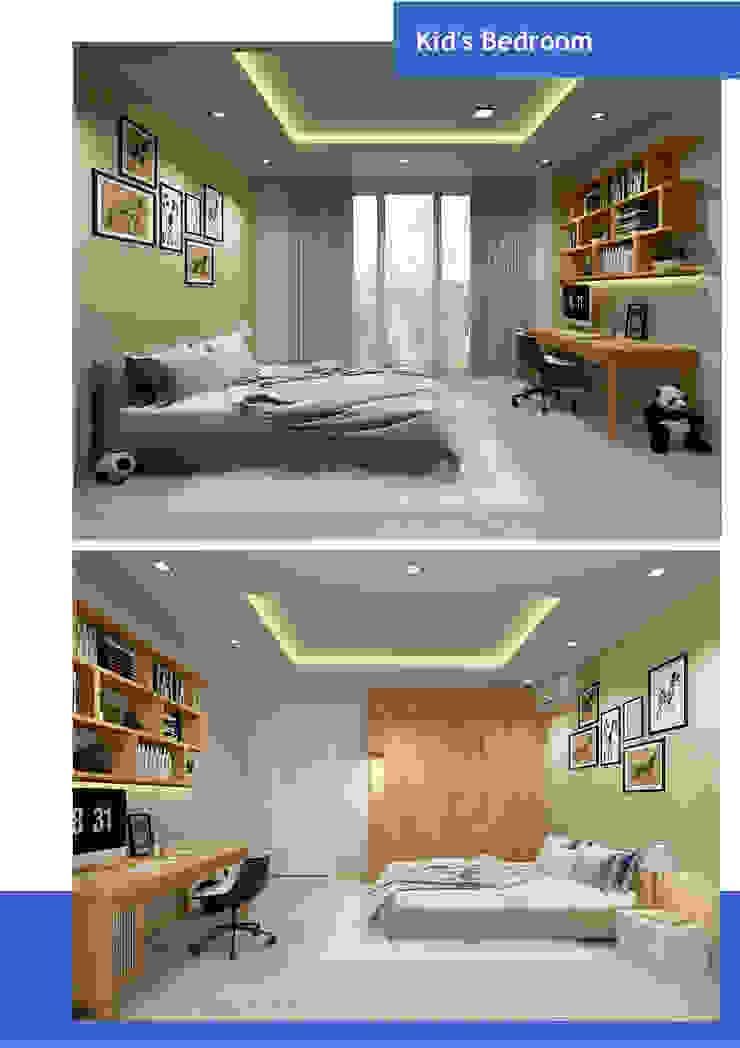Thiết kế nội thất căn hộ chung cư Quận 7 Phòng ngủ phong cách hiện đại bởi Công ty trang trí nội thất RIM Decor Hiện đại