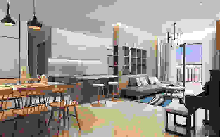 Thiết kế nội thất căn hộ Sunrise City Apartment Công ty trang trí nội thất RIM Decor Phòng khách