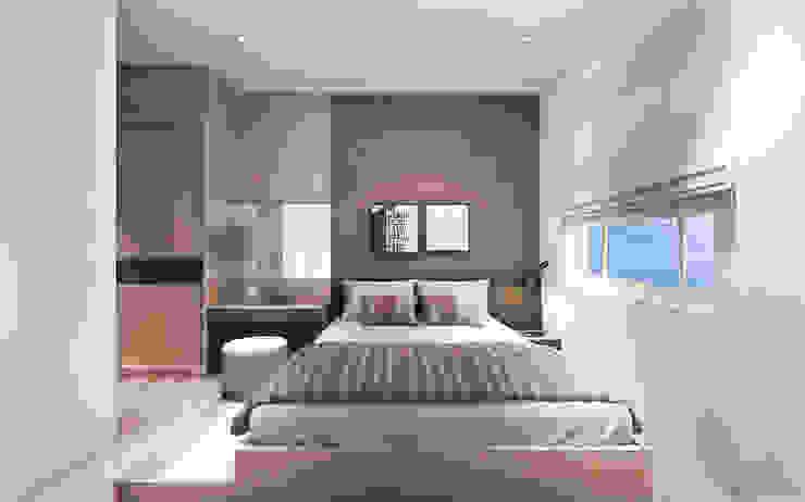 Thiết kế nội thất căn hộ Sunrise City Apartment Công ty trang trí nội thất RIM Decor Phòng ngủ phong cách hiện đại