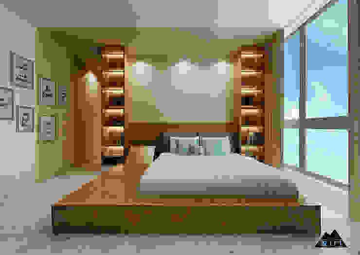 Thiết kế nội thất căn hộ Vinhome Phòng ngủ phong cách hiện đại bởi Công ty trang trí nội thất RIM Decor Hiện đại