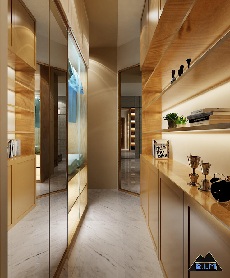 Thiết kế nội thất căn hộ Vinhome Phòng thay đồ phong cách hiện đại bởi Công ty trang trí nội thất RIM Decor Hiện đại