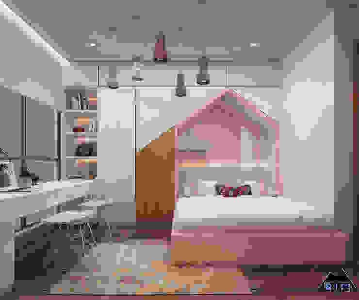 Thiết kế nội thất căn hộ Vinhome bởi Công ty trang trí nội thất RIM Decor Hiện đại