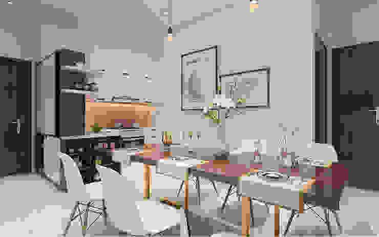Thiết kế nội thất căn hộ Lexington Apartment Nhà bếp phong cách kinh điển bởi Công ty trang trí nội thất RIM Decor Kinh điển