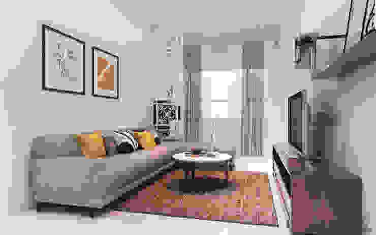 Thiết kế nội thất căn hộ Lexington Apartment Phòng khách phong cách kinh điển bởi Công ty trang trí nội thất RIM Decor Kinh điển