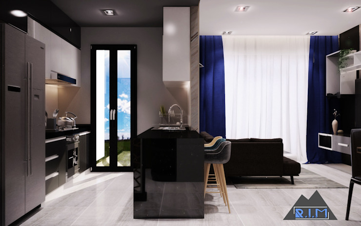 Thiết kế nội thất căn hộ Xi Grand Court Apartment Nhà bếp phong cách hiện đại bởi Công ty trang trí nội thất RIM Decor Hiện đại