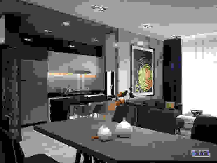 Thiết kế nội thất căn hộ Xi Grand Court Apartment Phòng ăn phong cách hiện đại bởi Công ty trang trí nội thất RIM Decor Hiện đại