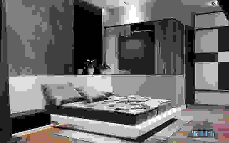 Thiết kế nội thất căn hộ Xi Grand Court Apartment Phòng ngủ phong cách hiện đại bởi Công ty trang trí nội thất RIM Decor Hiện đại