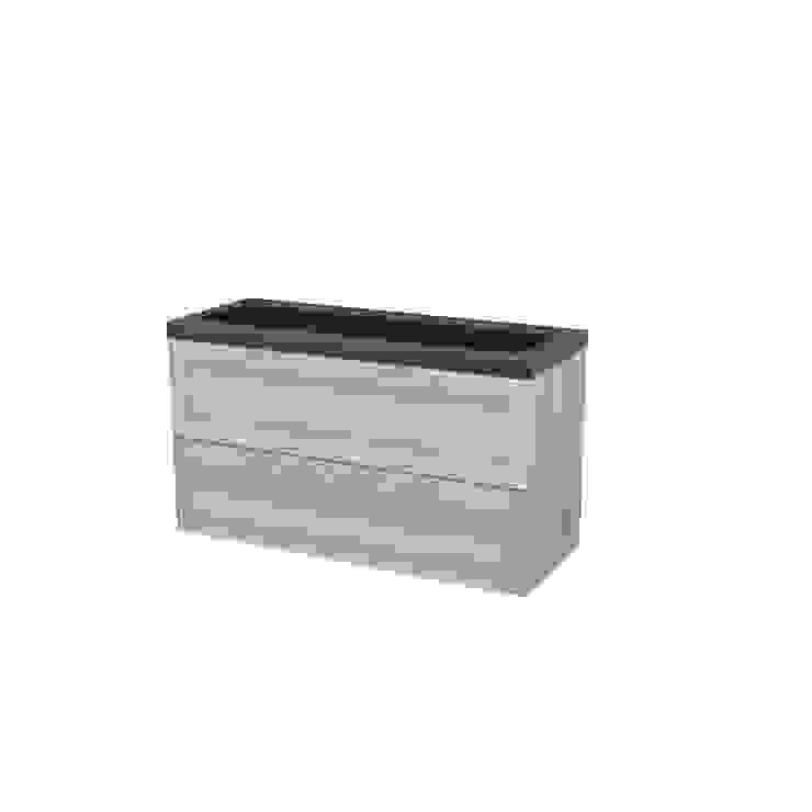 Badkamermeubel 120cm Modulo+ Natuursteen Graniet: modern  door Maxaro, Modern Natuurlijk Beige