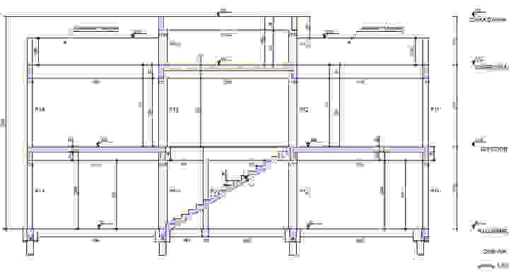 Projeto Estrutural - Corte da Estrutura Parro Engenharia e Projetos