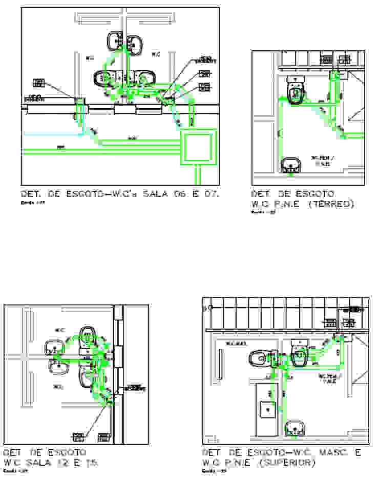 Projeto Hidrossanitário - Detalhes de Esgoto Parro Engenharia e Projetos