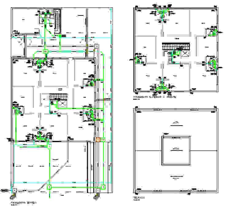 Projeto Hidrossanitário - Pavimento Térreo - Distribuição Geral Parro Engenharia e Projetos