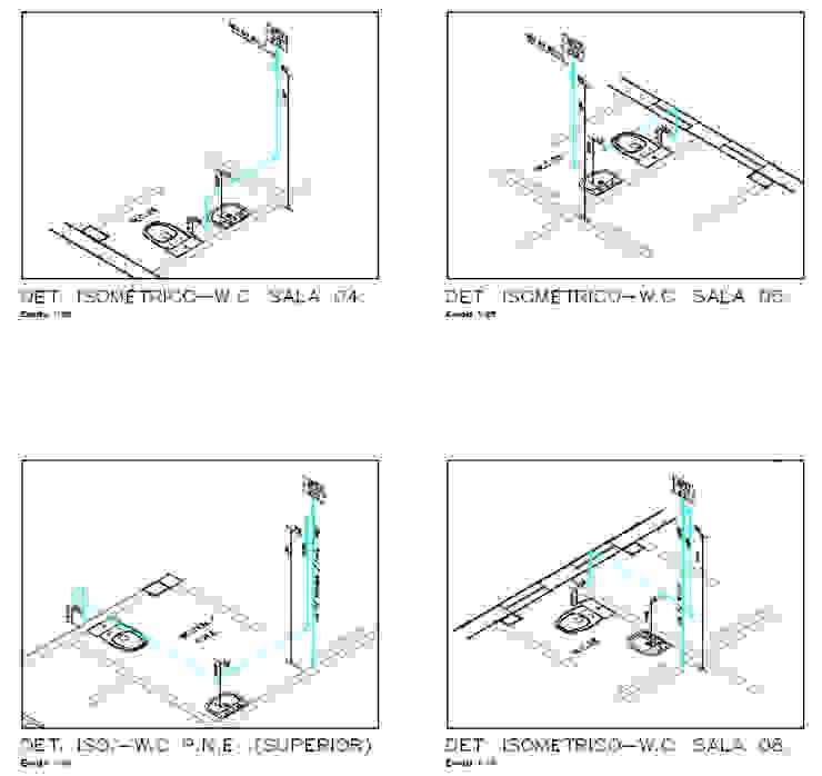 Projeto Hidrossanitário - Detalhe Isométrico Parro Engenharia e Projetos