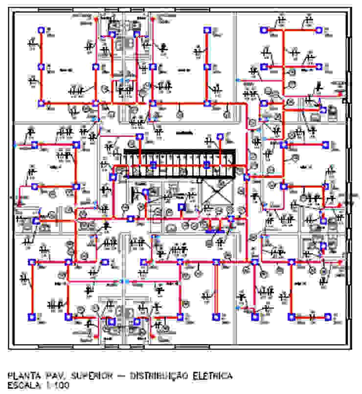 Projeto Elétrico - Pavimento Superior - Distribuição Elétrica Parro Engenharia e Projetos