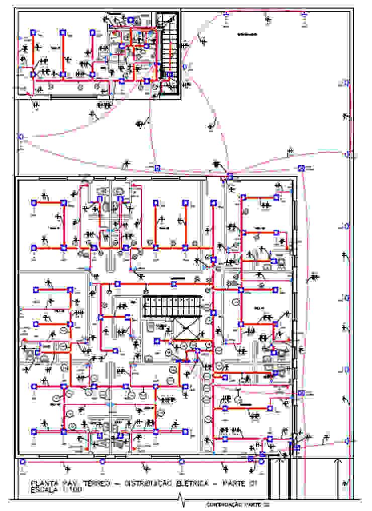 Projeto Elétrico - Pavimento Térreo - Distribuição Elétrica Parro Engenharia e Projetos