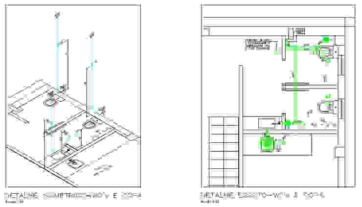 Projeto Hidrossanitário - Detalhe de Esgoto e Isométrico Parro Engenharia e Projetos