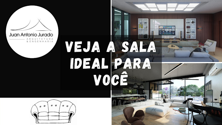 Galeria de projetos de interiores Salas de estar modernas por Juan Jurado Arquitetura & Engenharia Moderno