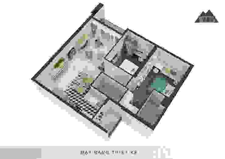 Thiết kế nội thất căn hộ Vista Verde Apartment: mộc mạc  by Công ty trang trí nội thất RIM Decor, Mộc mạc