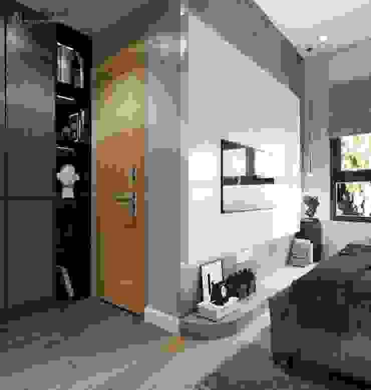 Kệ âm tường tận dụng diện tích Công ty TNHH Nội Thất Mạnh Hệ Phòng khách