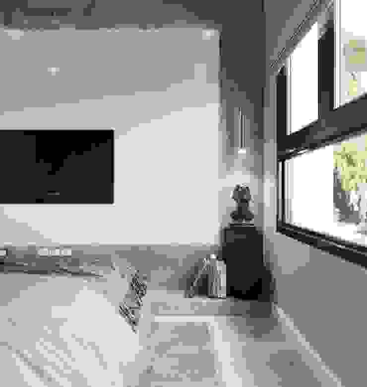 Ốp gỗ acrylic sang trọng cho vách tường tivi Công ty TNHH Nội Thất Mạnh Hệ Phòng ngủ nhỏ