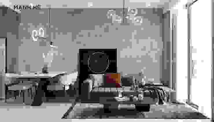 Sofa cao cấp phòng khách liền bàn ăn Công ty TNHH Nội Thất Mạnh Hệ Phòng khách