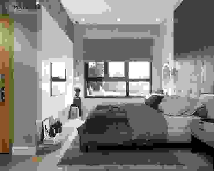 Phòng ngủ có sửa sổ lớn đón nắng Công ty TNHH Nội Thất Mạnh Hệ Phòng ngủ nhỏ