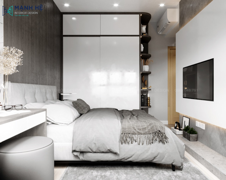 Tủ quần áo lớn kèm kệ góc trang trí Công ty TNHH Nội Thất Mạnh Hệ Phòng ngủ nhỏ