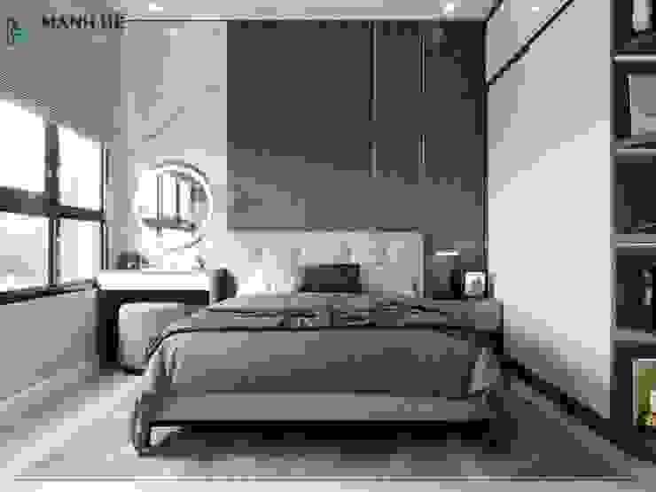 Không gian đầu giường phòng ngủ Công ty TNHH Nội Thất Mạnh Hệ Phòng ngủ nhỏ