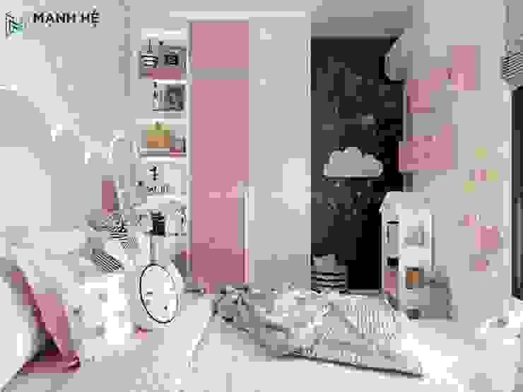 Tủ quần áo và kệ trang trí nhỏ cho bé Công ty TNHH Nội Thất Mạnh Hệ Phòng ngủ nhỏ