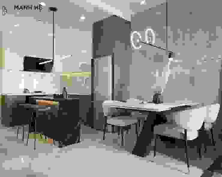 Nội thất bếp liền bàn ăn Công ty TNHH Nội Thất Mạnh Hệ Bếp nhỏ