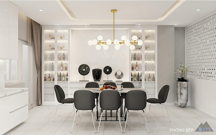 Thiết kế nội thất biệt thự Melosa Nhà bếp phong cách hiện đại bởi Công ty trang trí nội thất RIM Decor Hiện đại