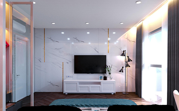 Thiết kế nội thất biệt thự Melosa Phòng ngủ phong cách hiện đại bởi Công ty trang trí nội thất RIM Decor Hiện đại