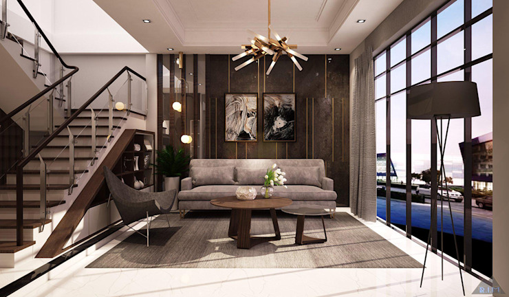 Thiết kế nội thất nhà phố Bình Dương bởi Công ty trang trí nội thất RIM Decor Hiện đại