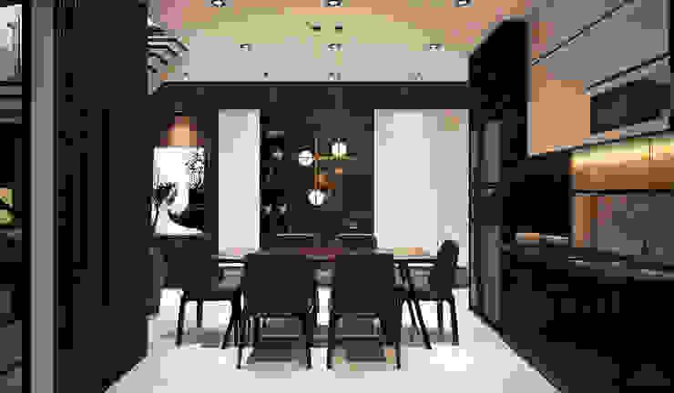 Thiết kế nội thất nhà phố Bình Dương Nhà bếp phong cách hiện đại bởi Công ty trang trí nội thất RIM Decor Hiện đại