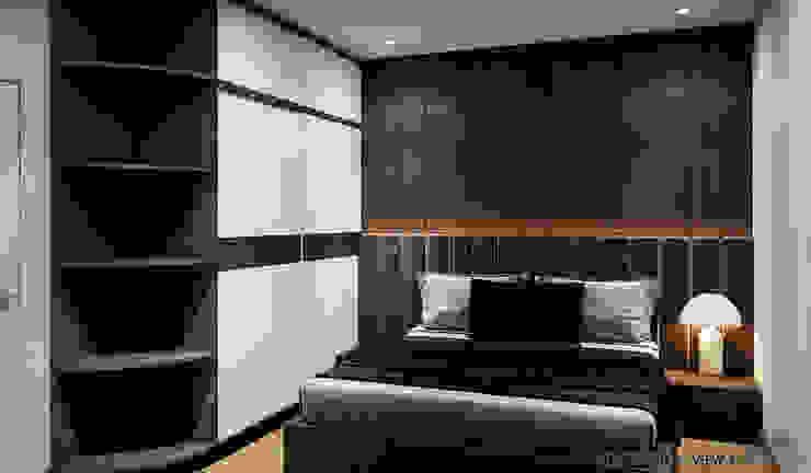 Thiết kế nội thất nhà phố Bình Dương Phòng ngủ phong cách hiện đại bởi Công ty trang trí nội thất RIM Decor Hiện đại