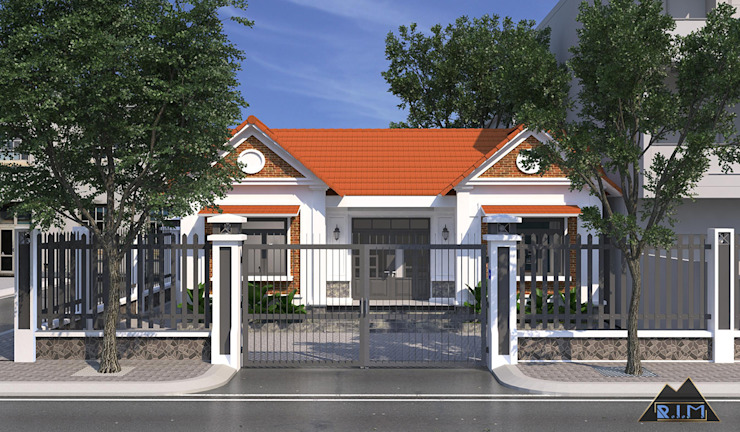 Thiết kế nội thất nhà phố Tây Ninh bởi Công ty trang trí nội thất RIM Decor Đồng quê