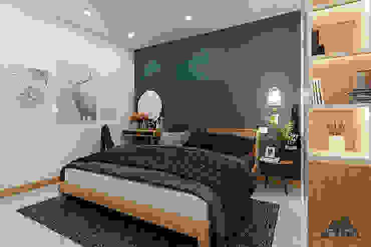 Thiết kế nội thất nhà phố Tây Ninh Phòng ngủ phong cách đồng quê bởi Công ty trang trí nội thất RIM Decor Đồng quê
