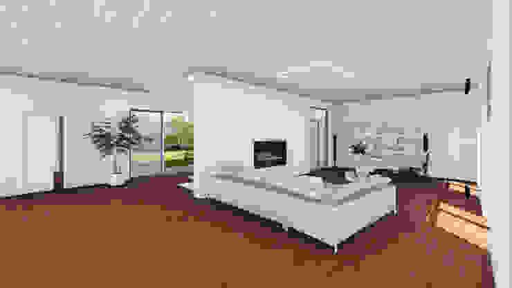 la zona giorno - il soggiorno Soggiorno moderno di Studio Dalla Vecchia Architetti Moderno