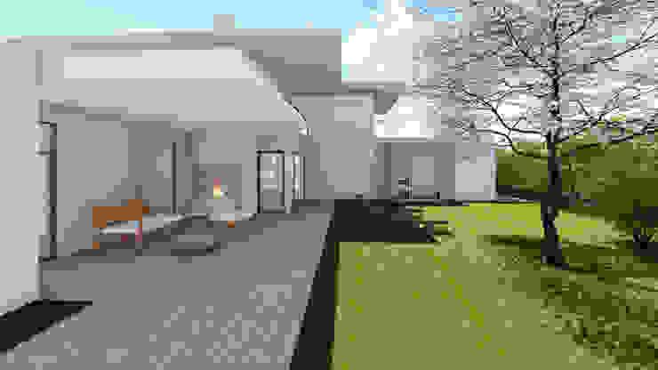 Progettazione case in legno Ingresso, Corridoio & Scale in stile moderno di Studio Dalla Vecchia Architetti Moderno