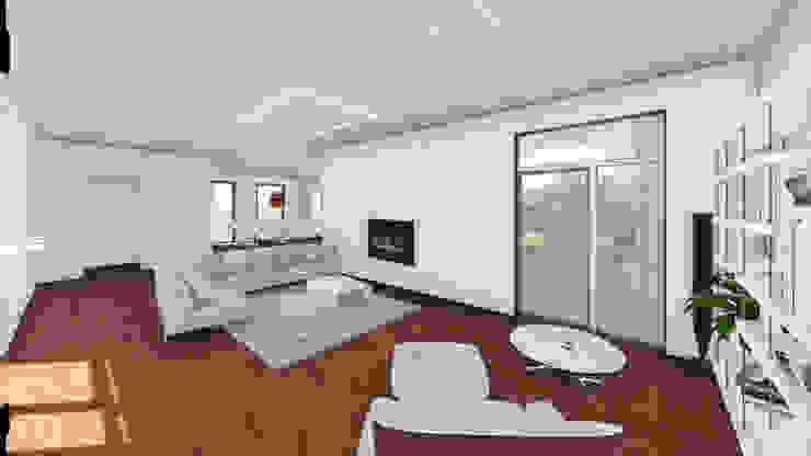 Progettazione case in legno Soggiorno moderno di Studio Dalla Vecchia Architetti Moderno