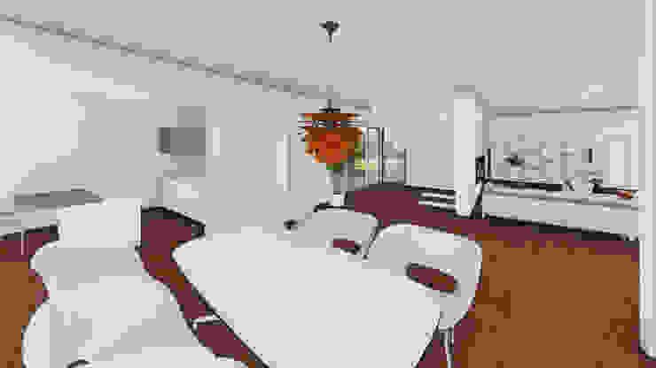 Progettazione case in legno Sala da pranzo moderna di Studio Dalla Vecchia Architetti Moderno